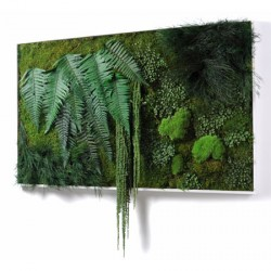bureau design mobilier mur vegetal