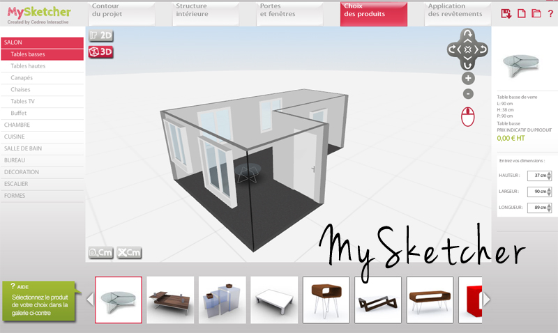 Logiciel d architecture 3d gratuit mysketcher ma for Application deco interieur