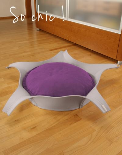 Etoile-panier design pour chat et chien gris-violet