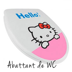 abattant wc hello kitty