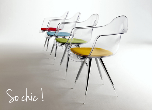 Chaise Design Diana Avec Accoudoirs  3