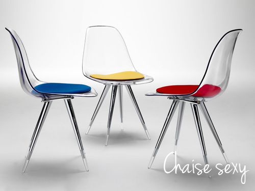 Chaises design wave silver pictures to pin on pinterest - Chaises transparentes design ...