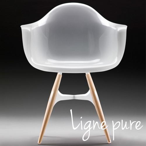 Chaise Design Freya Avec Accoudoirs en Polycarbonate