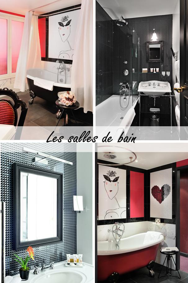 Les salles de bain de l'hotel les dames du panthéon