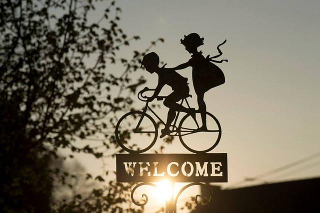 panneau bienvenue