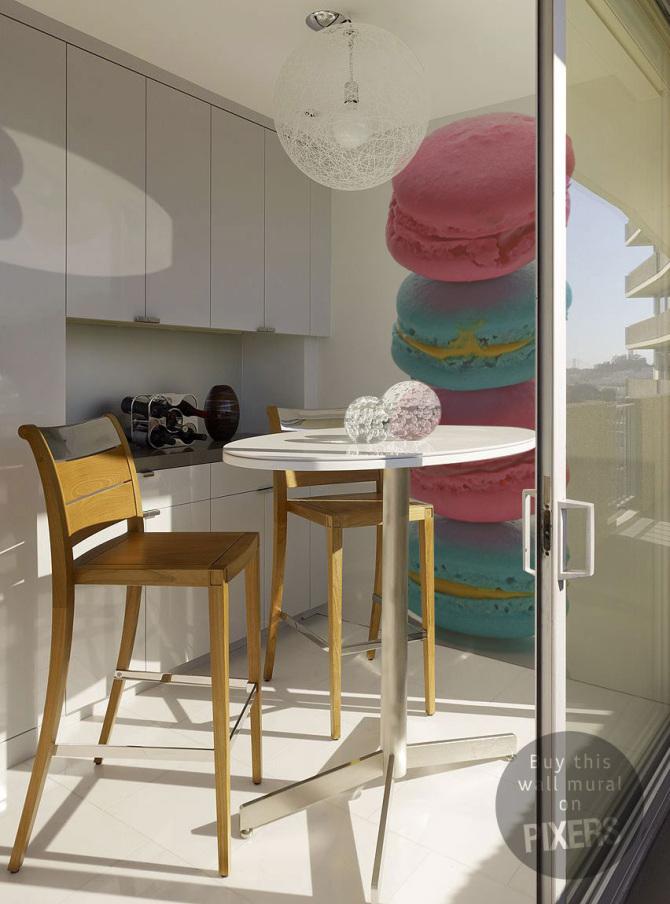 papier peint dans la cuisine