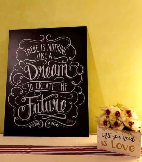 Tableau decoratif a message