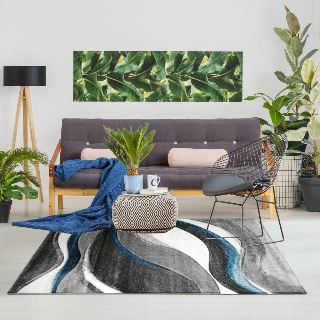 tapis graphique pour salon